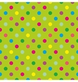 Tile pattern with polka dots on green background vector