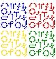 Color arrows set vector