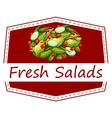 Fresh salads vector