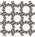 Seamless pattern with textured leaves vector