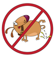 Dog stop vector