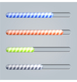 Progress bar on gray background eps10 vector