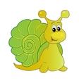 Smiling snail cartoon vector