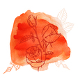 Rose watercolor vector