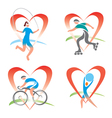 Icons i love fitness vector