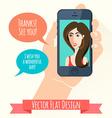 Phone conversation flat style vector