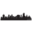 Tulsa oklahoma skyline detailed silhouette vector
