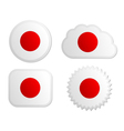 Japan flag labels vector