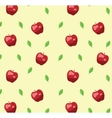 Red apple seamless pattern in retro style vector