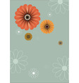 Floral abstract retro background vector