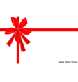 Black friday special card with red ribbon vector