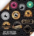 Set of quality stamp vector