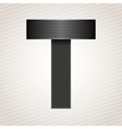 Letter metal ribbon - t vector
