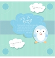 Baby shower card design with penguin vector