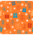 Seamless pattern of gift boxes vector