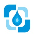 Pure water drop logo vector