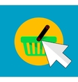 Flat buy button icon vector