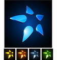 3d star emblems vector