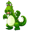 An angry crocodile vector