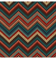 Style seamless knitted pattern red blue brown vector