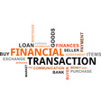 Word cloud financial transaction vector