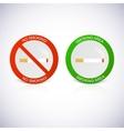 No smoking and smoking area labels vector