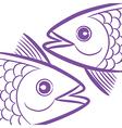 Pisces fish head vector