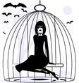 Lady raven vector