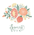 Vintage card with a blossoming branch vector