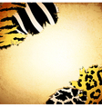 Vintage background with some animal print patterns vector