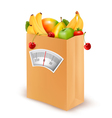 Healthy diet fresh food in a paper bag vector