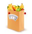 Healthy diet fresh food in a paper bag vector