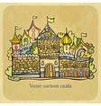 Cartoon fairy-tale castle vector