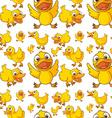 Seamless design of ducklings vector