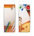 Drawing banners vertical vector
