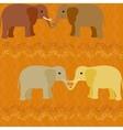 Elephants in love seamless pattern vector