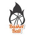 Basketball design over white background vector