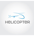 Helicopter design template vector