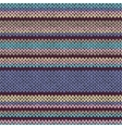 Seamless color striped knitted pattern vector
