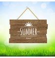 Summer time wood board vector
