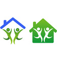 Happy family and home concept icon vector