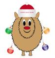 Christmas sheep vector