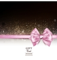 Elegant holiday background with pink bow and copy vector