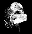 Skull and frame vector