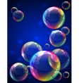 Bubbles background vector