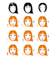 Make up for red-haired woman vector