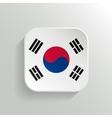Button - south korea flag icon vector