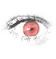 Abstract human digital red eye vector