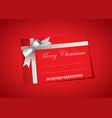 Blank christmas tag vector