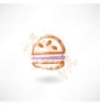 Hamburger grunge icon vector